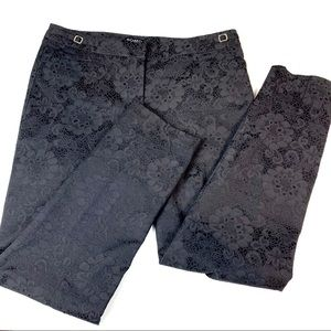 Soho apparel black trousers flower embellishments